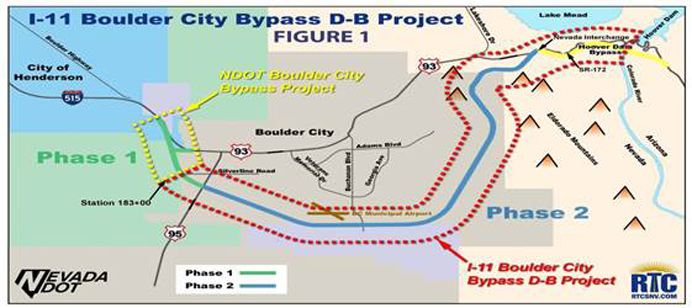 Interstate I-11 Boulder City Bypass Design-Build Project, Phase 2